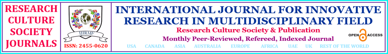 INTERNATIONAL JOURNAL FOR INNOVATIVE RESEARCH IN MULTIDISCIPLINARY FIELD