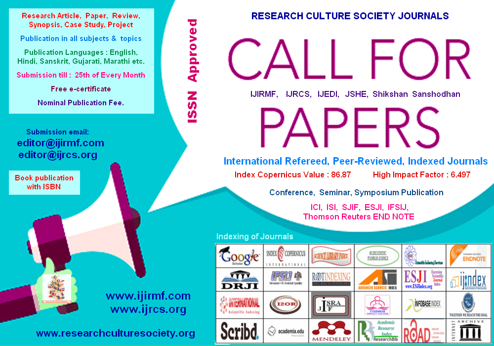 INTERNATIONAL JOURNAL FOR INNOVATIVE RESEARCH IN MULTIDISCIPLINARY